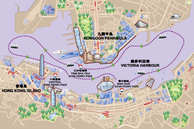 star-ferry-harbour-tour-route-map