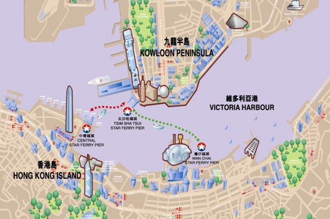 star-ferry-route-map