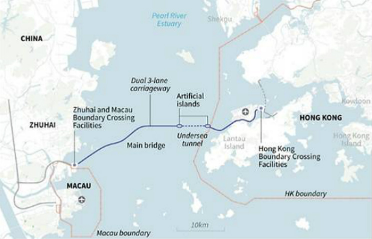 Travelling via the HK-Zhuhai-Macau Bridge